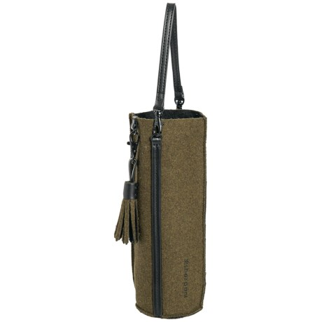 Sherpani Knox Wine Bottle Holder Wool-Leather in Loden