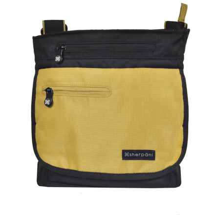 Sherpani Origins Jag RFID Crossbody Bag - Medium (For Women) in Green Tea - Closeouts