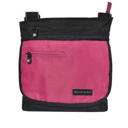 Sherpani Origins Jag RFID Crossbody Bag - Medium (For Women) in Red - Closeouts