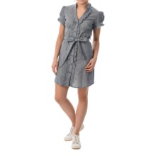 She's Cool Belted Dress - Short Sleeve (For Women) in Blue - Closeouts
