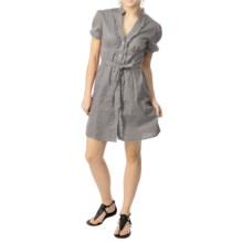 She's Cool Belted Dress - Short Sleeve (For Women) in Light Grey - Closeouts