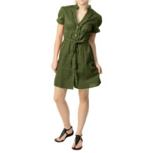 She's Cool Belted Dress - Short Sleeve (For Women) in Olive - Closeouts