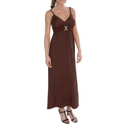 She's Cool Luxury ITY Maxi Dress - Sleeveless (For Women) in Brown - Closeouts