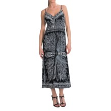 She's Cool Maxi Spaghetti Strap ITY Knit Dress (For Women) in Black/White - Closeouts