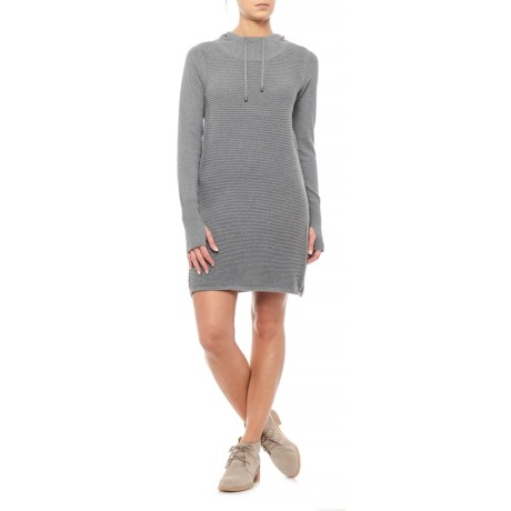Shift Hooded Sweater Dress - Long Sleeve (For Women)