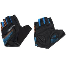 Shimano Advanced Fingerless Bike Gloves (For Men and Women) in Black - Closeouts