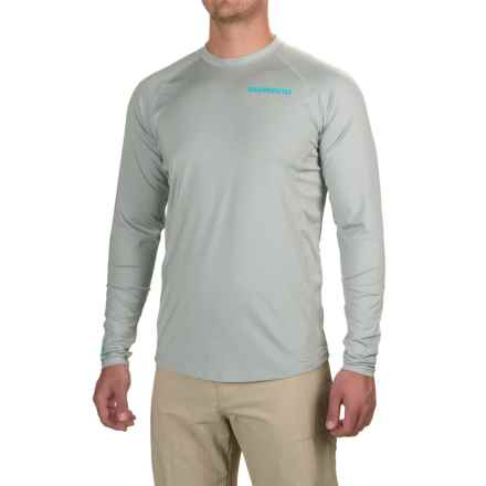 Shimano Castor Tech T-Shirt - UPF 30+, Long Sleeve (For Men and Big Men) in Grey - Closeouts