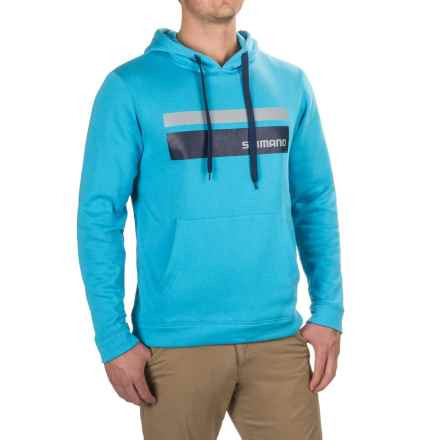 Shimano Corona Hoodie (For Men and Big Men) in Cyan - Closeouts