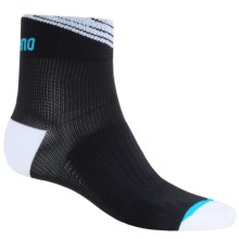 Shimano Cycling Ankle Socks (For Men and Women) in Black/White - Closeouts