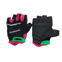 Shimano Explorer Bike Gloves - Fingerless (For Women) in Black/Jazzberry - Closeouts