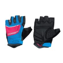 Shimano Explorer Bike Gloves - Fingerless (For Women) in Lightning Blue/Jazzberry - Closeouts