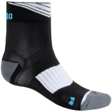 Shimano High-Performance Cycling Ankle Socks (For Men and Women) in Black/White - Closeouts