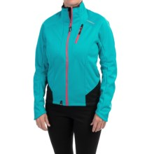 Shimano High-Performance Windbreak Cycling Jacket (For Women) in Emerald Green - Closeouts