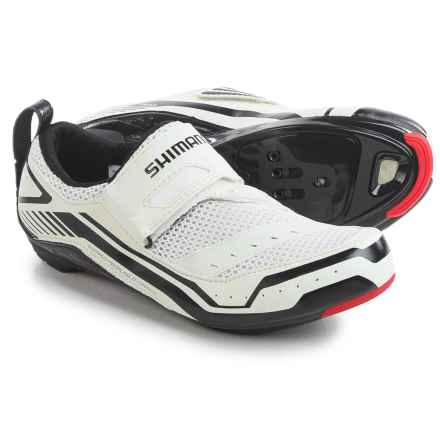 Shimano SH-TR32 Triathlon Cycling Shoes - SPD, 3-Hole (For Men and Women) in White/Black - Closeouts
