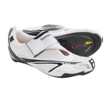 Shimano SH-TR60 Triathlon Shoes - 3-Hole (For Men) in White/Black - Closeouts