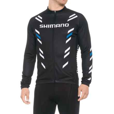 Shimano Thermal Print Jersey - Long Sleeve (For Men) in Black - Closeouts
