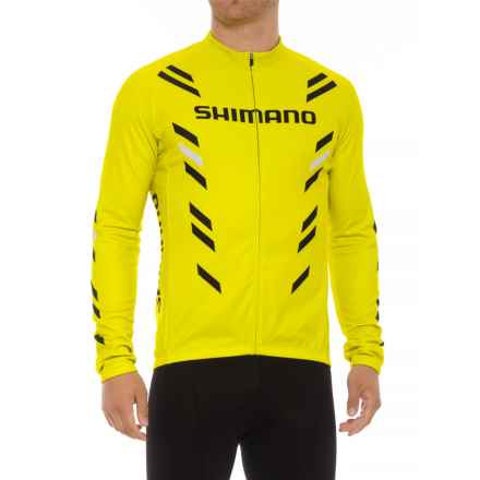 Shimano Thermal Print Jersey - Long Sleeve (For Men) in Lime Yellow - Closeouts