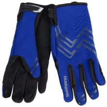 Shimano Thick Windbreak Bike Gloves - Touchscreen Compatible (For Men and Women) in Blue - Closeouts