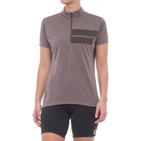 Shimano Transit Pavement Cycling Jersey - Zip Neck, Short Sleeve (For Women) in Shark