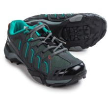 Shimano WM34 Mountain Touring Cycling Shoes - SPD (For Women) in Black/Green - Closeouts