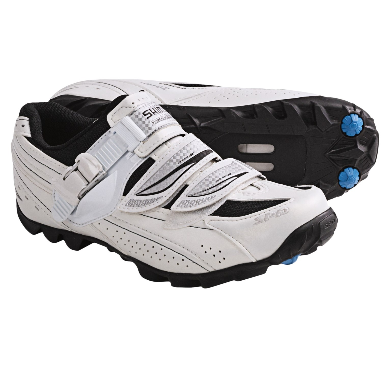 Shimano WM62 Mountain Bike Shoes - SPD (For Women) in White/Black