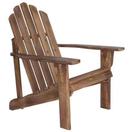 Shine Company Rustic Wine Adirondack Chair in Wine - Closeouts