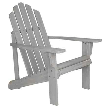 Shine Company Vintage Gray Rustic Adirondack Chair in Gray - Closeouts