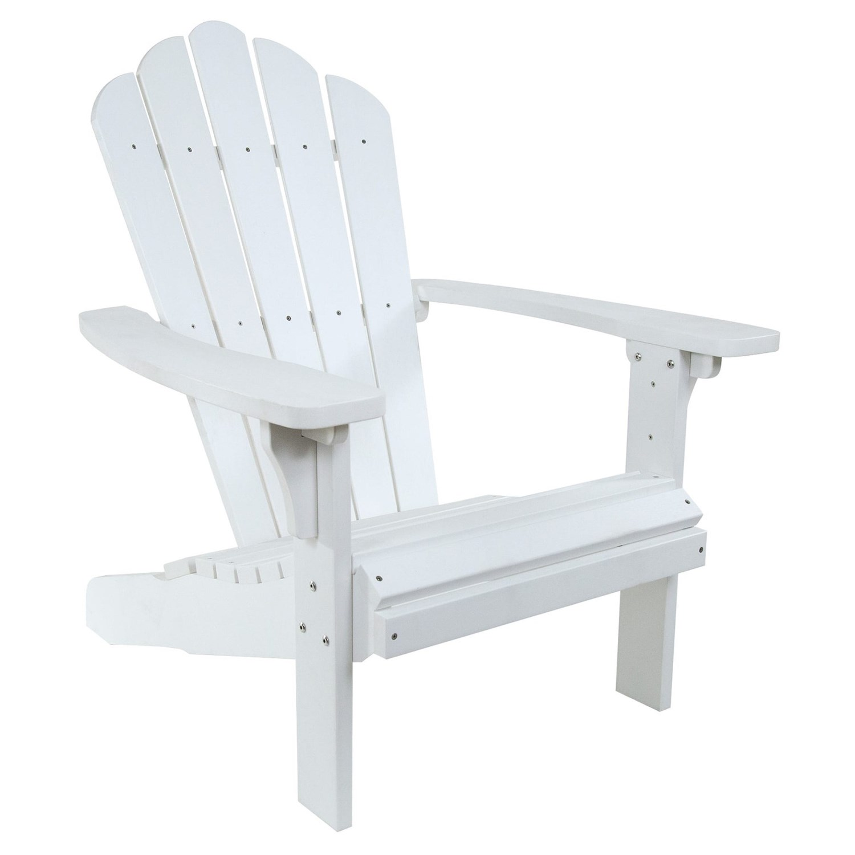 Shine Company West Palm Plastic Adirondack Chair In White ...