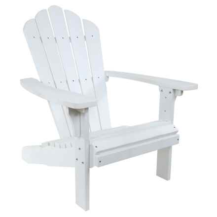 Shine Company West Palm Plastic Adirondack Chair in White - Closeouts