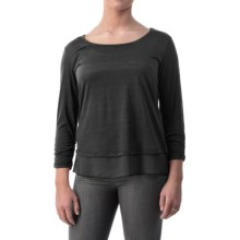 Shirred-Cuff Shirt - Long Sleeve (For Women) in Black - 2nds