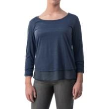 Shirred-Cuff Shirt - Long Sleeve (For Women) in Navy - 2nds