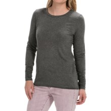 Shirred-Cuff Shirt - Stretch Rayon, Long Sleeve (For Women) in Charcoal - 2nds