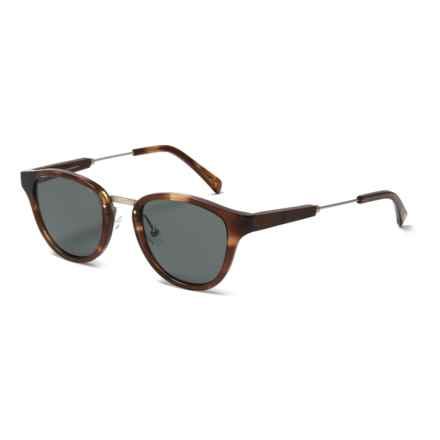Shwood Ainsworth Sunglasses - Polarized in Bourbon/Mattesilver/Grey - Overstock