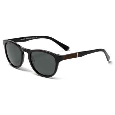 9d3cddebaff595 Shwood Francis Sunglasses - Polarized (For Women) in Black Ebony Grey -