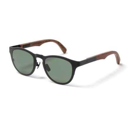Shwood Francis Sunglasses - Polarized (For Women) in Black Titanium/Walnut/G15 - Closeouts