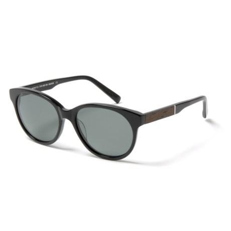 Shwood Madison Sunglasses - Polarized (For Women) in Black/Ebony/Grey
