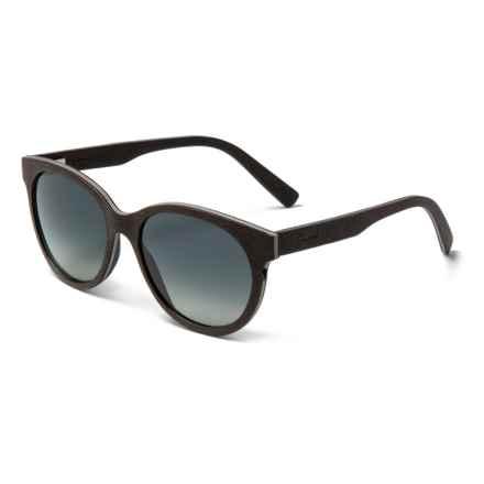 Shwood Madison Sunglasses - Polarized (For Women) in Dark Walnut/Grey Fade - Closeouts