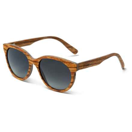 Shwood Madison Sunglasses - Polarized (For Women) in Zebrawood/Grey Fade - Closeouts
