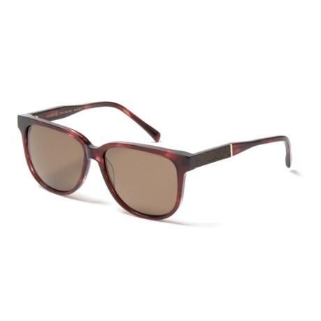 Shwood Mckenzie Sunglasses - Polarized (For Women) in Sangria/Ebony/Brown