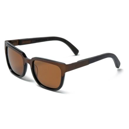 0c0ceffe5ec Shwood Prescott Titanium Sunglasses - Polarized (For Men) in Antique Bronze  Titanium Black