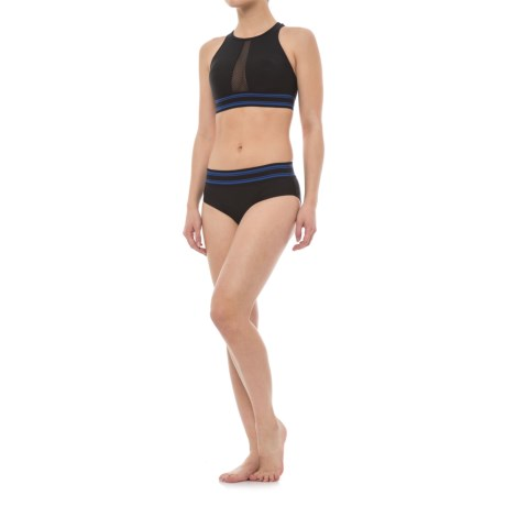 SIA Mesh Racerback Bikini Set - Removable Padded Cups (For Women) in Black