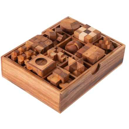 SiamMandalay Mini Wood Puzzles - Set of 12 in See Photo - Closeouts