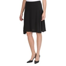 Side-Draping ITY Full Skirt (For Women) in Black - 2nds