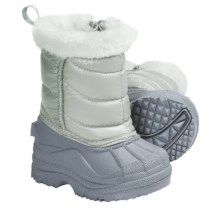 Side Zip Snow Boots (For Toddlers and Kids) in Silver - Closeouts