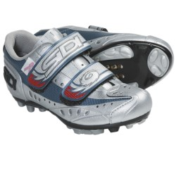 Sidi Blaze Mountain Bike Cycling Shoes - SPD (For Women) in Silver