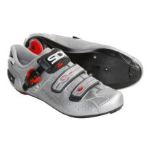 Sidi Genius 5 Pro Carbon Road Cycling Shoes - 3 Hole (For Men) in Silver - Closeouts