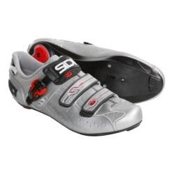 Sidi Genius 5 Pro Carbon Road Cycling Shoes - 3-Hole (For Men) in Silver