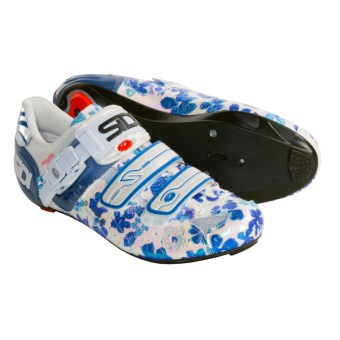 Sidi Genius 5 Pro Carbon Road Cycling Shoes - 3 Hole (For Women) in Blue Flower