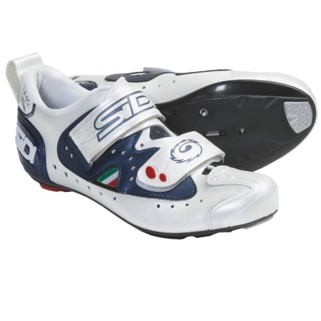 Sidi T2 Carbon Road Cycling Shoes - 3-Hole (For Men) in Midnight/White