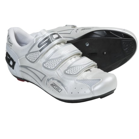 Sidi Zephyr Carbon Cycling Shoes - 3-Hole (For Women) in Pearl White